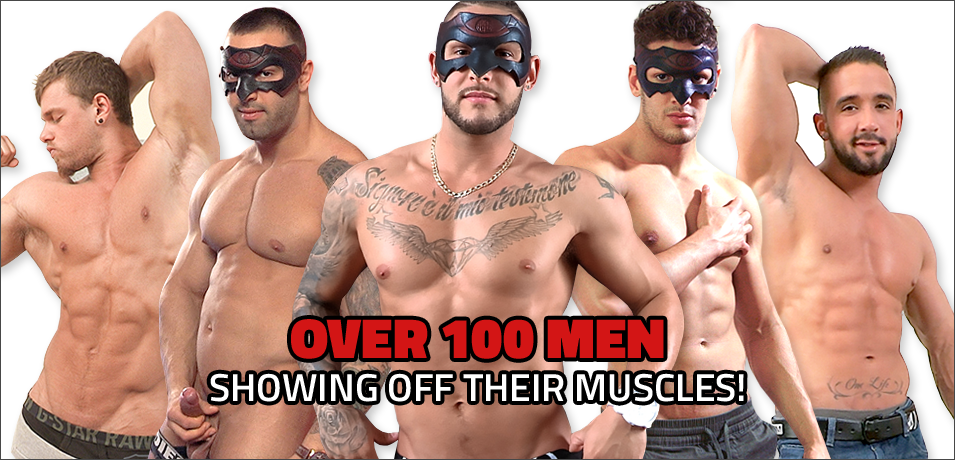 Over 100 Men Showing off their muscles!
